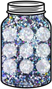 Token Jar - Silver Sequin Jar