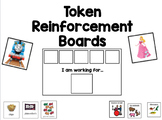 """Token Reinforcement """"I Am Working For"""" Choice Boards"""