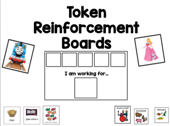 "Token Reinforcement ""I Am Working For"" Choice Boards"