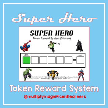 Token Reward System- Super Hero Pack