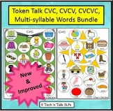 Token Talk CV, CVC, CVCV, CVCVC, Multi-syllable Words Bundle