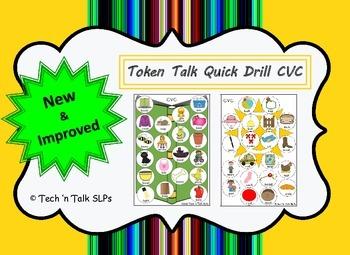 Token Talk Quick Drill for CVC words