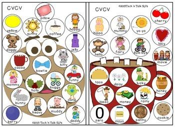 Token Talk Quick Drill for CVCV and CVCVC Words