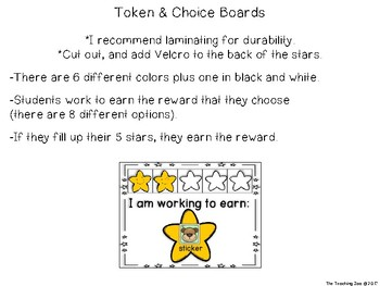 Token and Choice Boards