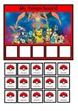 Token board (ASD): Pokemon theme / reward chart