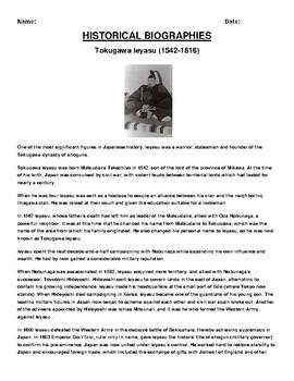 Tokugawa Ieyasu Biography Article and (3) Assignments