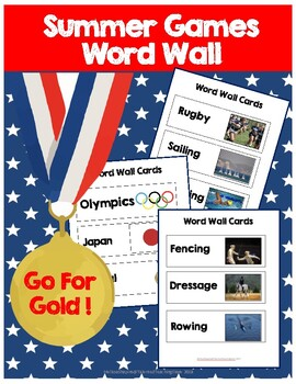 Summer Games Sports Word Wall