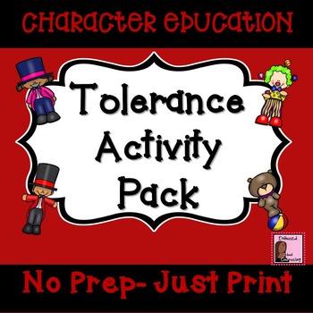 Tolerance Activity Pack- 7 Activities