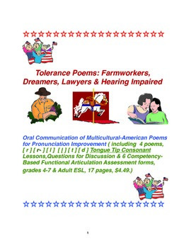 Tolerance Poems:Farmworkers,Dreamers,Lawyers & Hearing Impaired