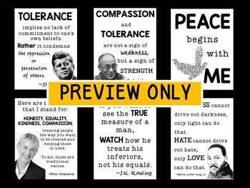 Tolerance Posters