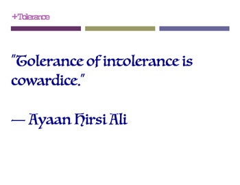 Tolerance Posters (8.5 x 11)