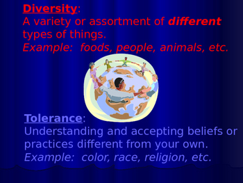 Tolerance Week Anti-bullying and Character Education Lesson