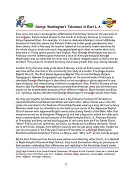 Tolerance Stories: George Washington's Festival of Friendship