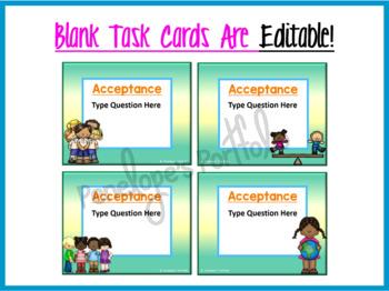 Tolerance Activity:  Social Skills Task Cards