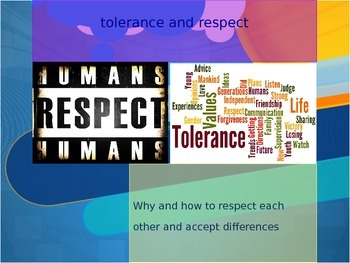 Tolerance and respect, I am Charlie presentation freebie