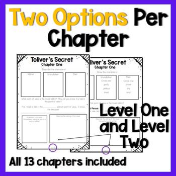 Toliver's Secret - A DIFFERENTIATED Novel Study!
