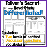 Toliver's Secret - A DIFFERENTIATED Novel Study!