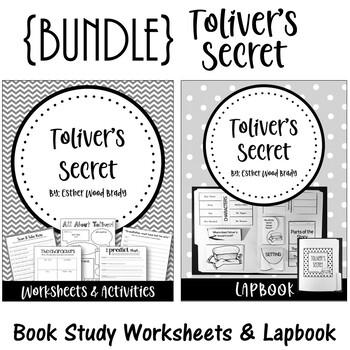 Toliver's Secret. {BUNDLE} Worksheet Set and Lapbook Set