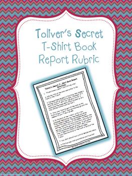 Toliver's Secret- T-Shirt Book Report Rubric