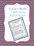 Toliver's Secret- T-Shirt Book Report Rubric