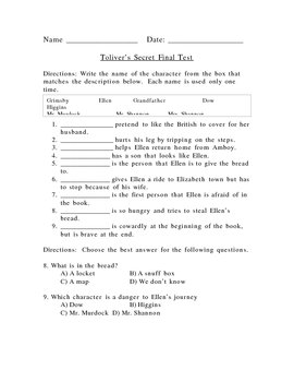 Tolivers Secret Test