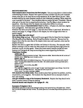 Toliver's Secret guided reading plan