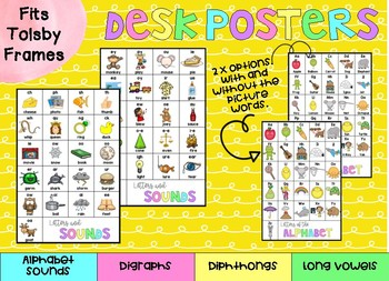 Tolsby Frame Desk Posters - Phonics and Alphabet