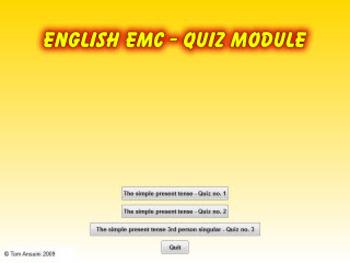 Tom Ansuini English quiz present tense