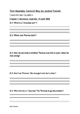Tom Appleby Convict Boy Novel Study Comprehension Questions