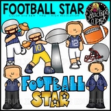 Football Star Clip Art Set {Educlips Clip Art}