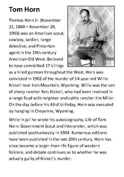 Tom Horn Handout