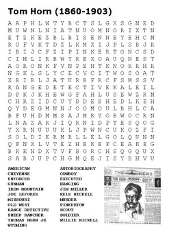 Tom Horn Word Search