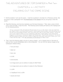 Tom Sawyer - Chapter 9,10,11 Activity + Lesson