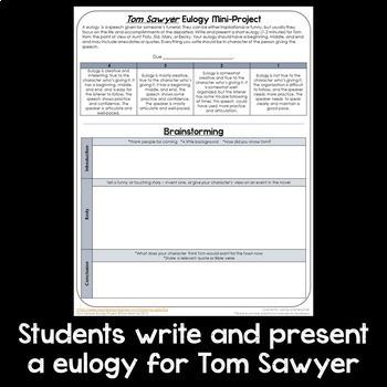 Tom Sawyer Eulogy Speaking Project