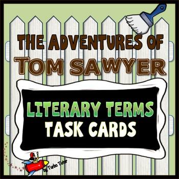 Tom Sawyer Literary Terms Task Cards