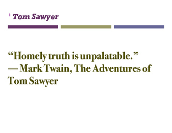 Tom Sawyer Quotes (Classroom Displays)
