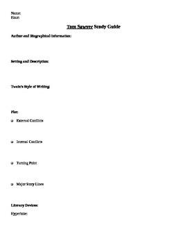 Tom Sawyer Study Guide