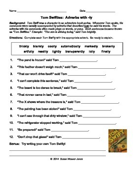 Adverbs with -ly: Tom Swifties