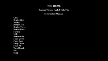 Tom Thumb PowerPoint Fairy Tale