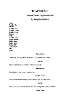 Tom Thumb - Readers Theater English Folk Tale
