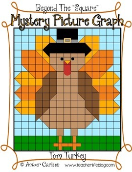 Tom Turkey {Beyond The Square-Mystery Picture Graph}
