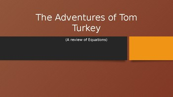 Tom Turkey Math Variables! Thanksgiving Fun!