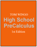 Tom Wingo Pre Calculus Book Bundle (1) Book (2) Solutions (3) Socrative Codes