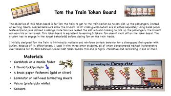 Tom the Train Token Board