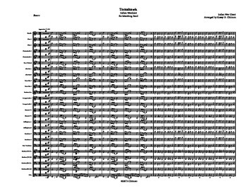 Tomahawk War Chant for Marching Band Score & Parts Sheet Music