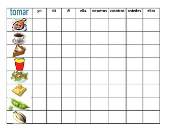 Comida (Food in Spanish) Tomar Connect 4 game