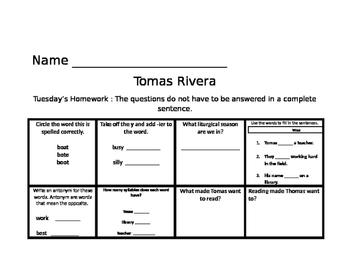 Tomas Rivera Common Core Journey's