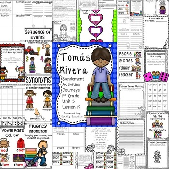 Tomas Rivera 1st Grade Activities Lesson 19