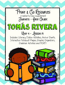 Tomas Rivera - Journeys First Grade Print and Go