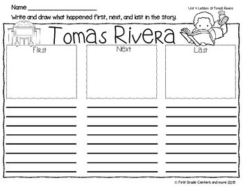 Tomas Rivera: Journeys First Grade Unit 4 Lesson 19